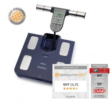 OMRON BF511 Body Composition Monitor (HBF-511B-E) blue