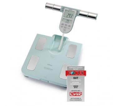 Return OMRON BF511 turquoise Body Composition Monitor