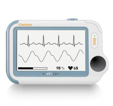 Powerful ECG, pulse oximeter, sleep monitor, blood pressure monitor and infrared thermometer in one.