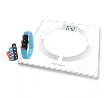Medisana Aktionspaket BS 444 connect Körperanalysewaage + ViFit connect MX3 Activity Tracker